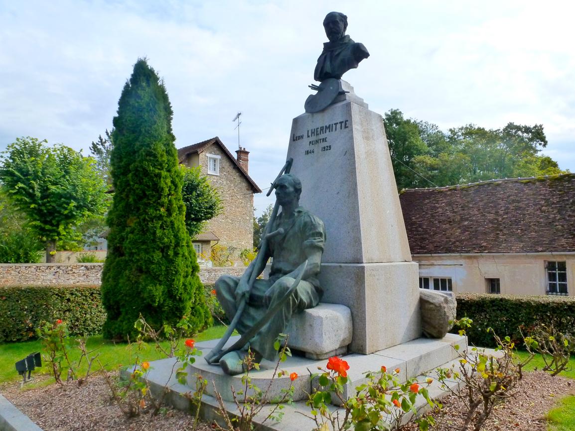 Statue du peinte  Léon Lhemitte ( 1844-1925)