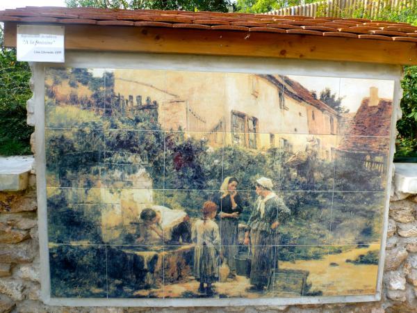 """Reproduction du tableau """"la Fontaine"""" du peintre Léon Lhermitte"""